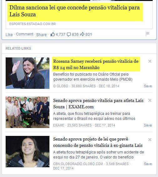Dilma sanciona lei que concede pensão vitalícia para Lais Souza